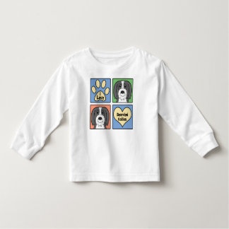 I Love Bearded Collies Toddler T-shirt