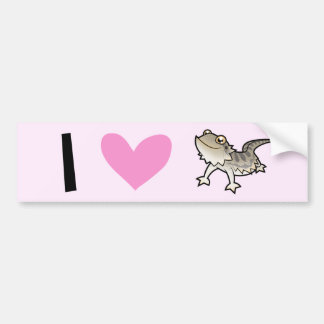 I Love Bearded Dragons / Rankin Dragons Bumper Sticker