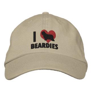 I Love Beardies Embroidered Hat
