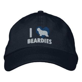 I Love Beardies Embroidered Hat (Blue)