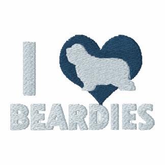 I Love Beardies Embroidered Shirt (Zip Hoodie)
