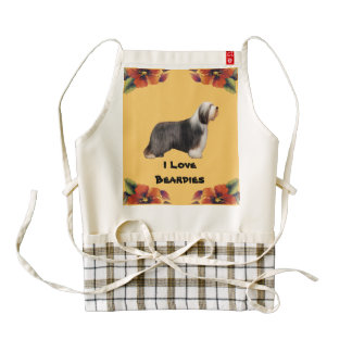 I Love Beardies on Autumn Floral Wine Bag Zazzle HEART Apron