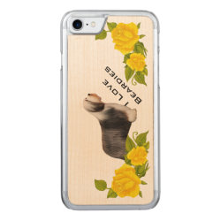 Carved Apple iPhone 7 Wood Case with Collie Phone Cases design
