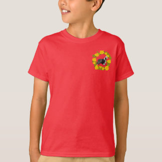 I Love Beardies with Yellow Roses T-Shirt
