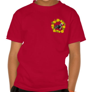 I Love Beardies with Yellow Roses T Shirt