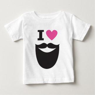 I Love Beards Baby T-Shirt