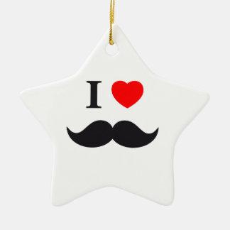 I Love beards Christmas Ornament