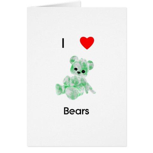 I love bears (2) card