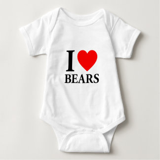 I Love Bears Baby Bodysuit