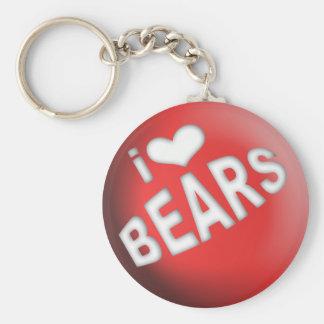 I LOVE BEARS BALL KEYCHAIN