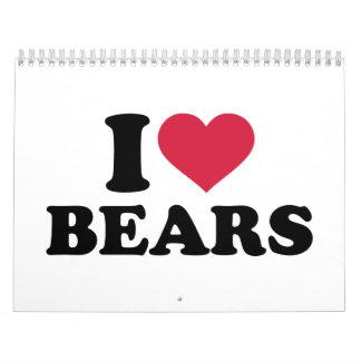 I love bears calendar