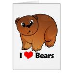 I Love Bears Cards