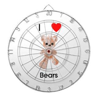 I love bears dartboard with darts