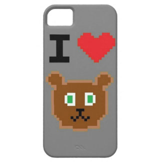 """I LOVE BEARS"" Grey IPhone 5/5s case"