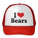 I Love Bears Hats
