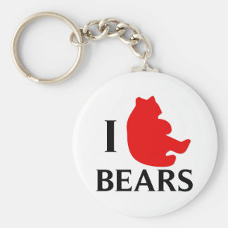 I Love Bears Keychain