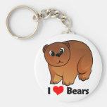 I Love Bears Keychains