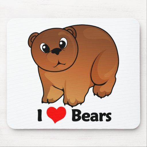 I Love Bears Mouse Pads