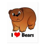I Love Bears Post Card