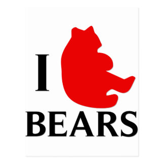 I Love Bears Postcard