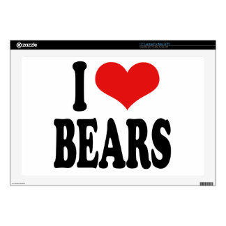 "I Love Bears Skin For 17"" Laptop"