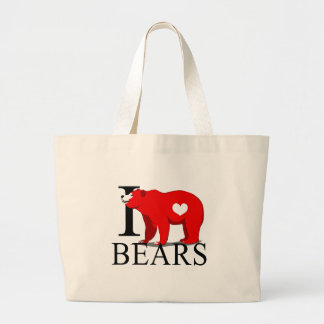 I Love Bears Tote Bags