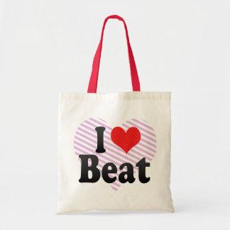 I Love Beat Tote Bag