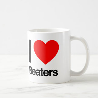 i love beaters coffee mug
