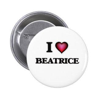 I Love Beatrice Pinback Button