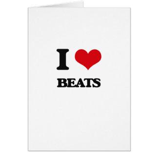 I Love Beats Greeting Card