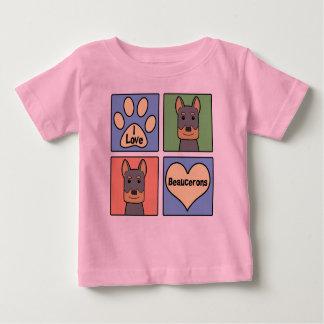 I Love Beaucerons Baby T-Shirt