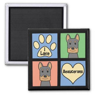 I Love Beaucerons Magnet