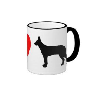 I Love Beaucerons Mug