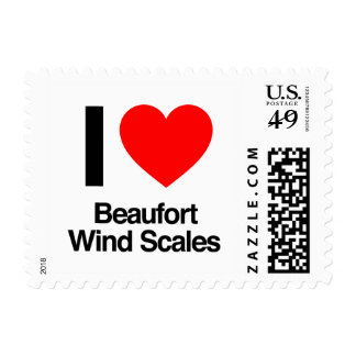 i love beaufort wind scales postage stamps