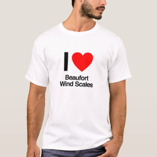 i love beaufort wind scales T-Shirt