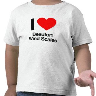 i love beaufort wind scales tees