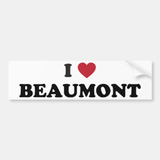 I Love Beaumont Texas Bumper Stickers