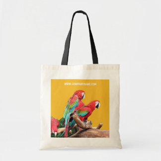 I love beautiful birds! red and blue parrots. tote bag