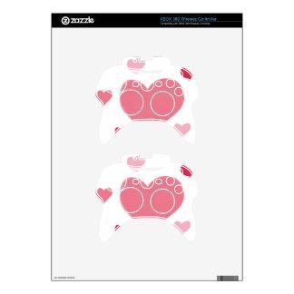 I Love Beautiful Pink Hearts Xbox 360 Controller Skin