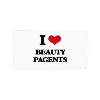 I Love Beauty Pagents Personalized Address Label