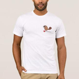I Love Beaver Hat Bill T-Shirt