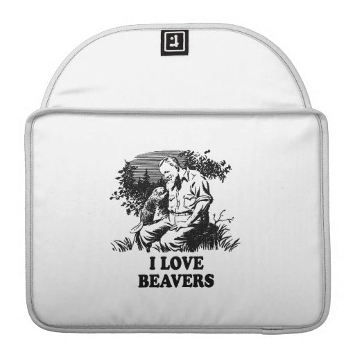 I Love Beavers Sleeves For MacBook Pro