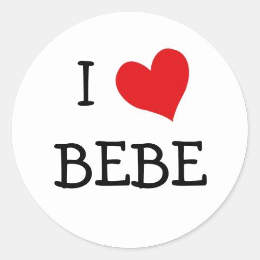 Love Bebe Classic Round Sticker  Zazzle