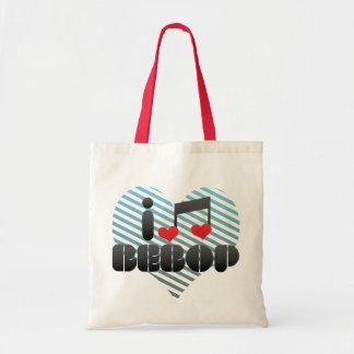 I Love Bebop Budget Tote Bag