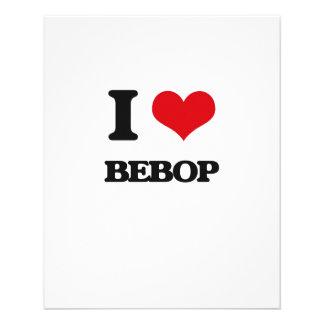 I Love Bebop Full Color Flyer