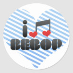 I Love Bebop Stickers