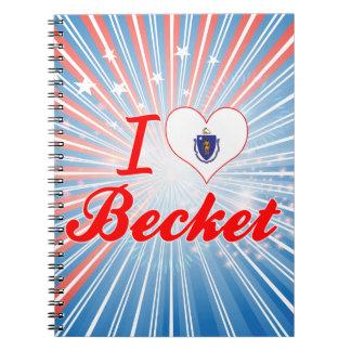 I Love Becket, Massachusetts Note Book