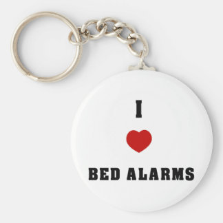 I Love Bed Alarms Keychain
