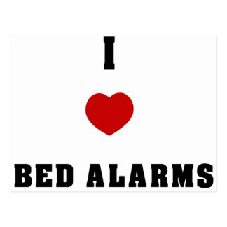 I Love Bed Alarms Postcard