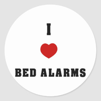 I Love Bed Alarms Stickers